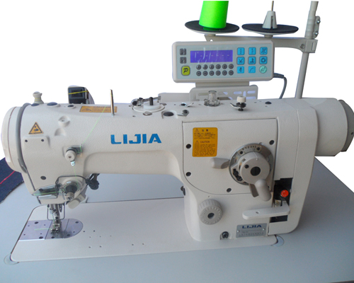 Direct Drive Automatic 40 Stop Zigzag Sewing Machine LJ40 Royal Best Automatic Cutting And Sewing Machine Price